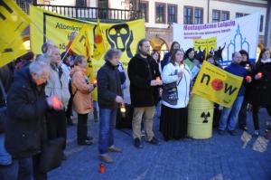 Mahnwache zu Fukushima in Leipzig 2014